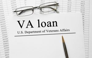 A form for a VA loan