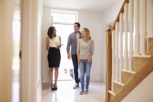 Homebuyers touring house